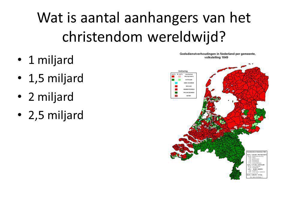Wat is aantal aanhangers van het christendom wereldwijd.