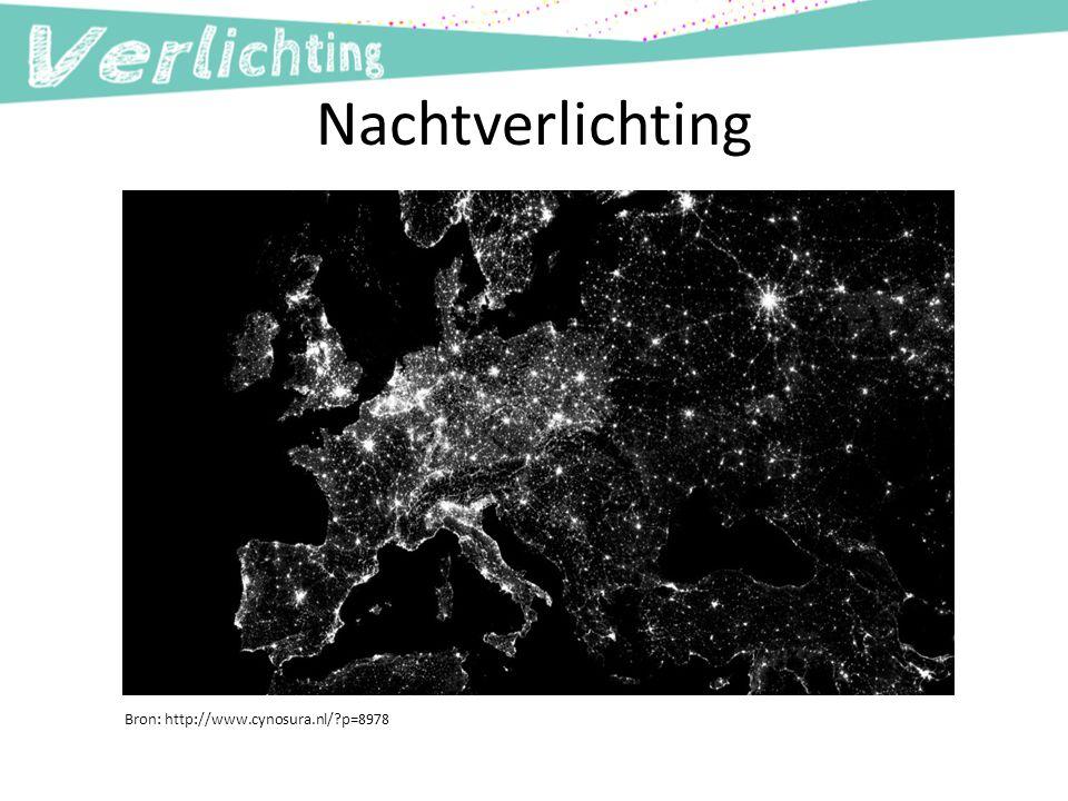 Nachtverlichting Bron: http://www.cynosura.nl/?p=8978