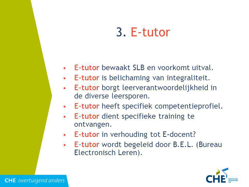 3.E-tutor E-tutor bewaakt SLB en voorkomt uitval.
