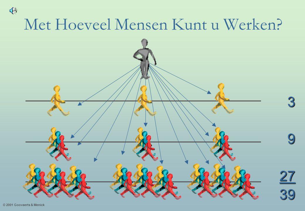 © 2001 Goovaerts & Menick Met Hoeveel Mensen Kunt u Werken? 392739