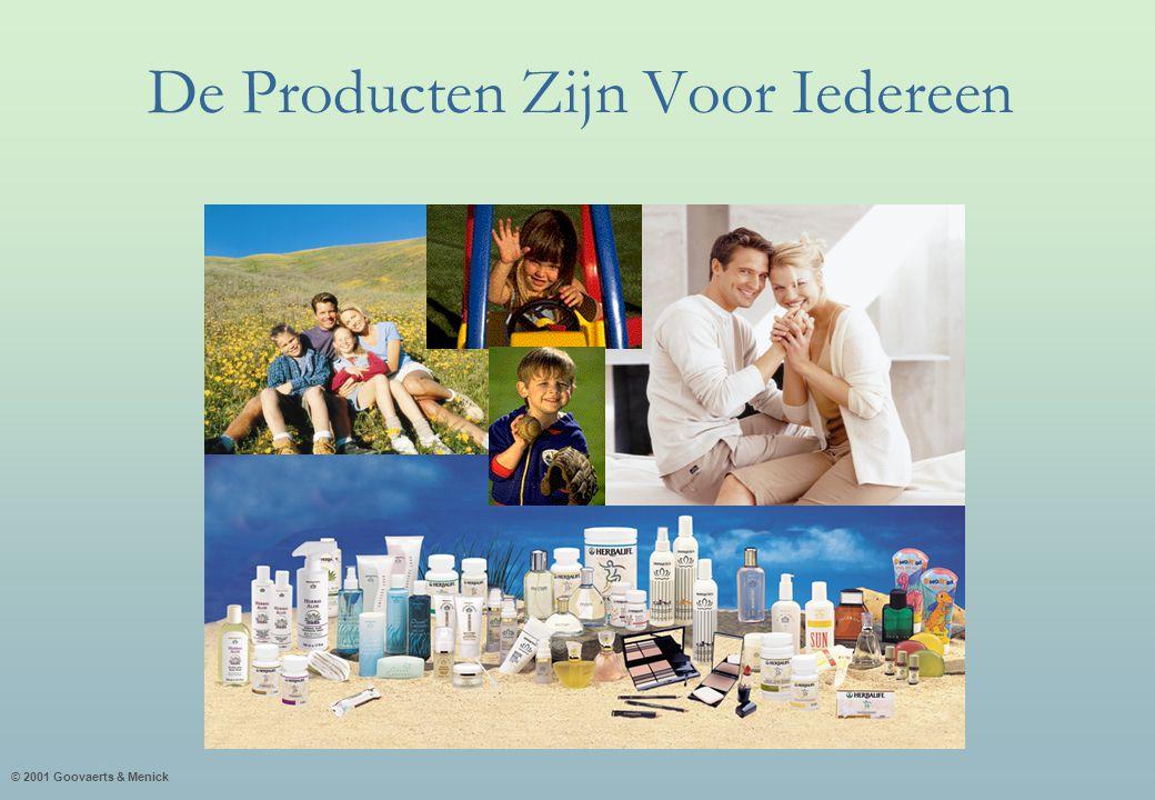 © 2001 Goovaerts & Menick De Producten Zijn Voor Iedereen