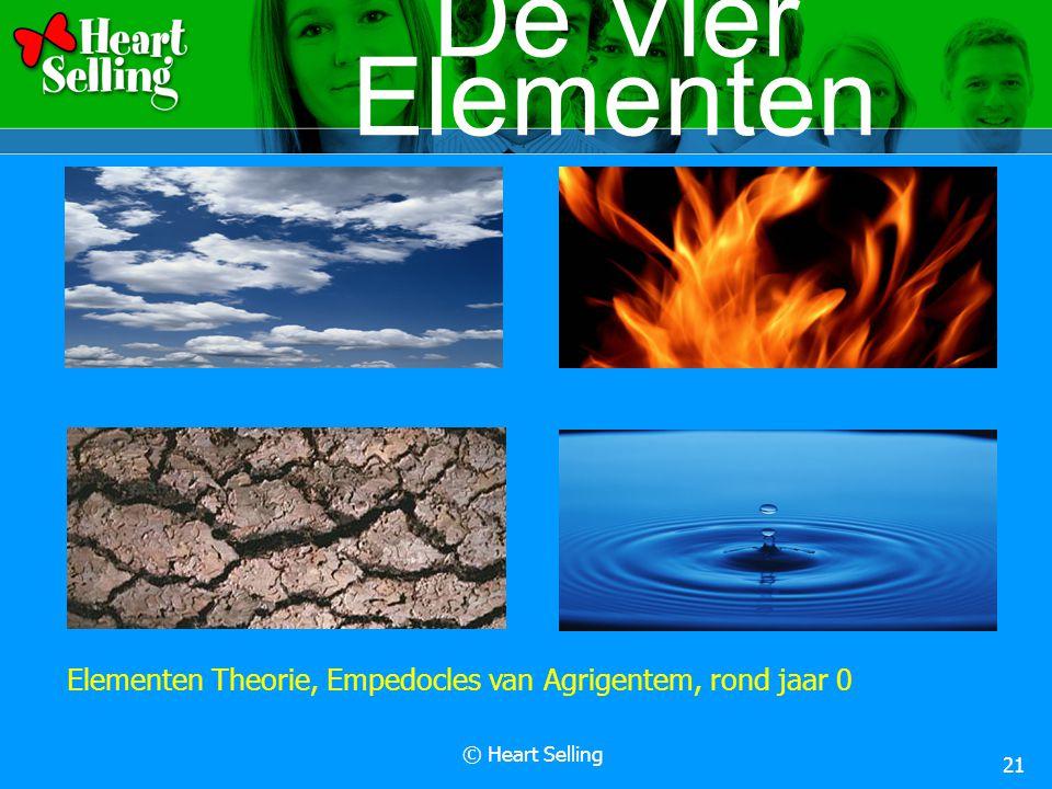 © Heart Selling 21 De Vier Elementen Elementen Theorie, Empedocles van Agrigentem, rond jaar 0
