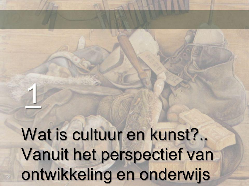 Cultuur Cultuur: aangeleerde en overgedragen patronen van menselijke activiteit en de materiële en symbolische structuren die deze activiteiten mogelijk maken en betekenis geven