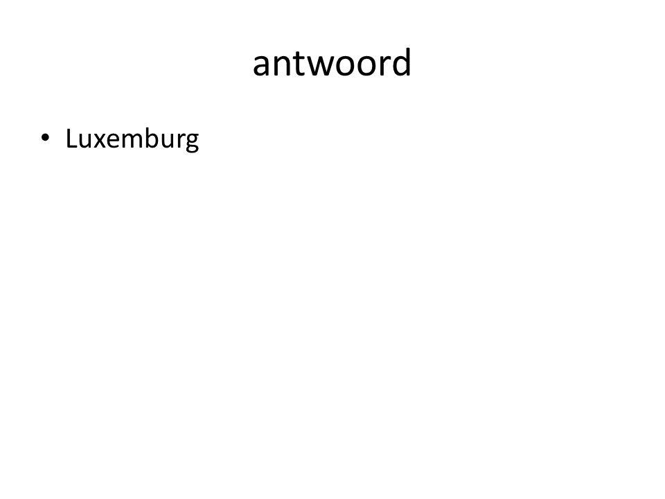 antwoord Luxemburg