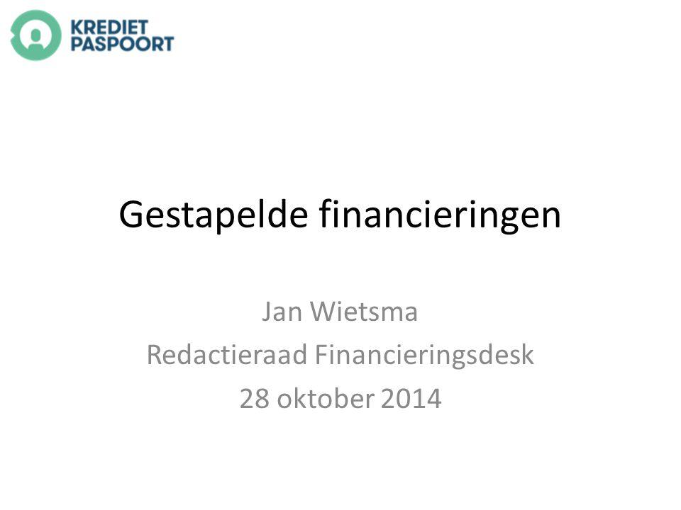 Gestapelde financieringen Jan Wietsma Redactieraad Financieringsdesk 28 oktober 2014