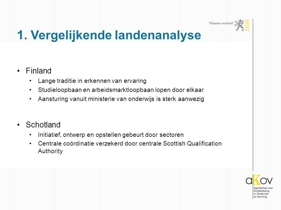 Finland Lange traditie in erkennen van ervaring Studieloopbaan en arbeidsmarktloopbaan lopen door elkaar Aansturing vanuit ministerie van onderwijs is