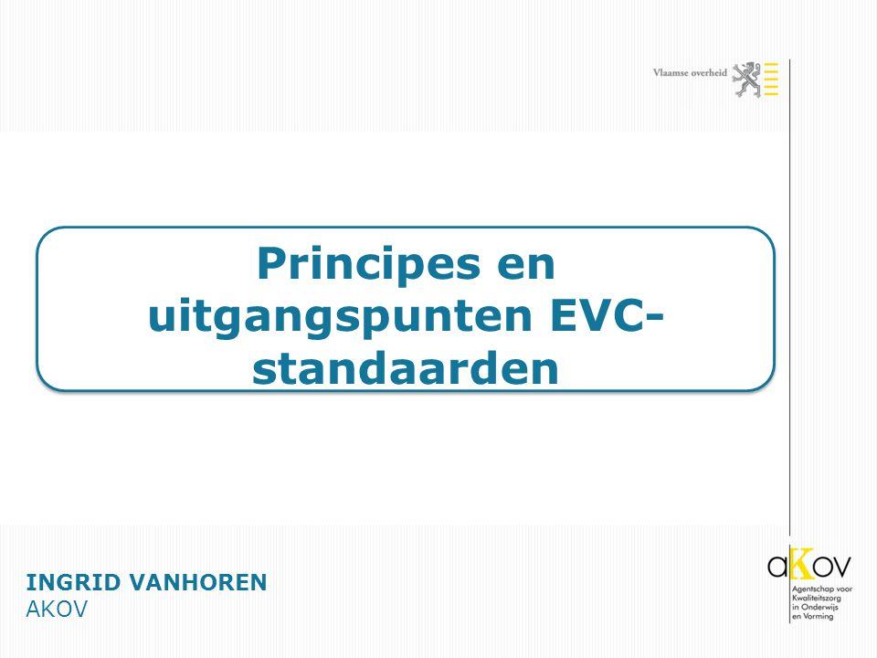 Principes en uitgangspunten EVC- standaarden INGRID VANHOREN AKOV