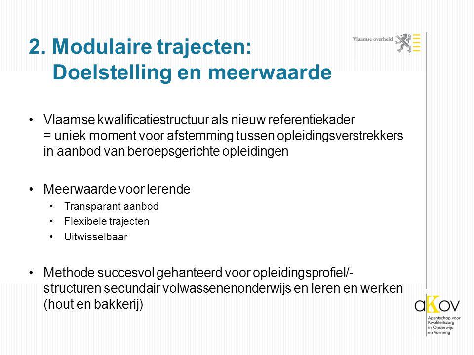 Vlaamse kwalificatiestructuur als nieuw referentiekader = uniek moment voor afstemming tussen opleidingsverstrekkers in aanbod van beroepsgerichte opl
