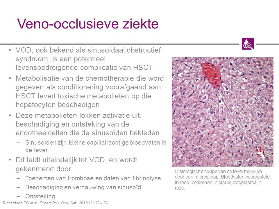 Veno-occlusieve ziekte VOD, ook bekend als sinusoïdaal obstructief syndroom, is een potentieel levensbedreigende complicatie van HSCT Metabolisatie va