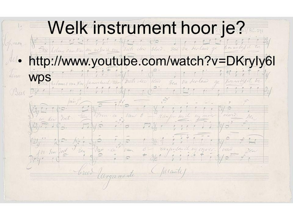 Welk instrument hoor je? http://www.youtube.com/watch?v=DKryIy6l wps