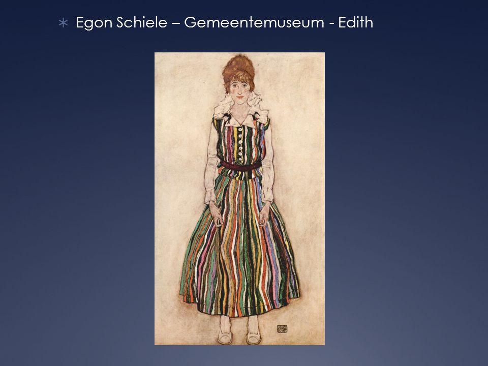  Egon Schiele – Gemeentemuseum - Edith