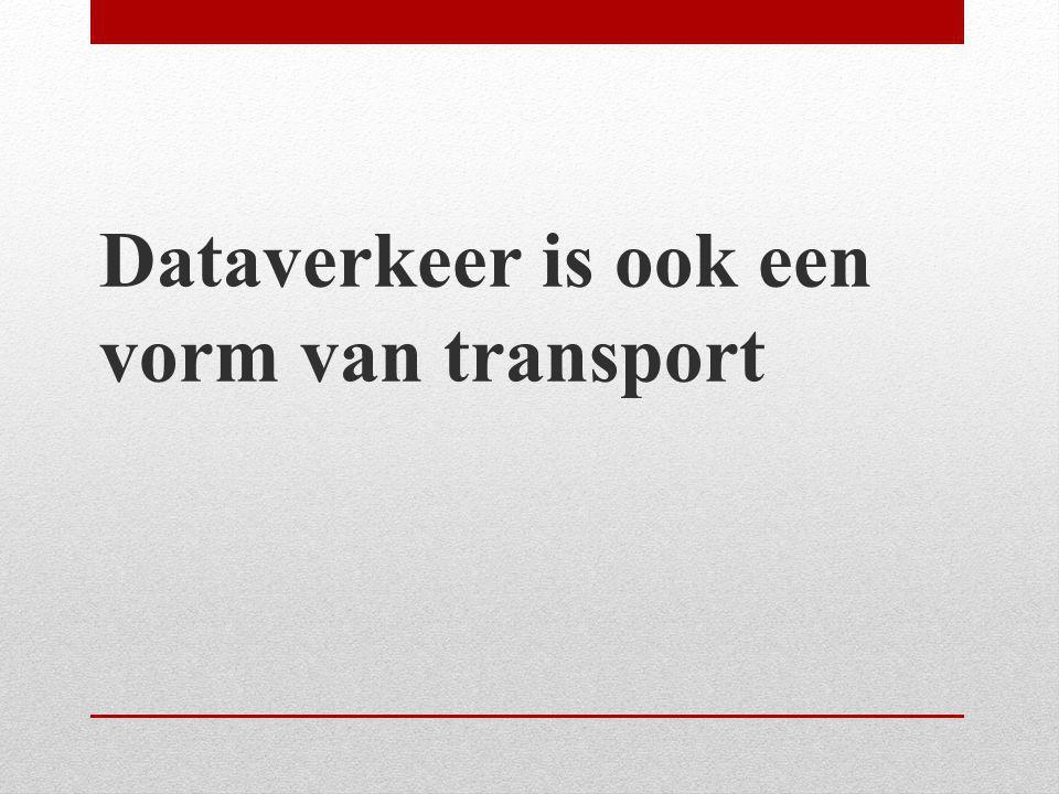Dataverkeer is ook een vorm van transport