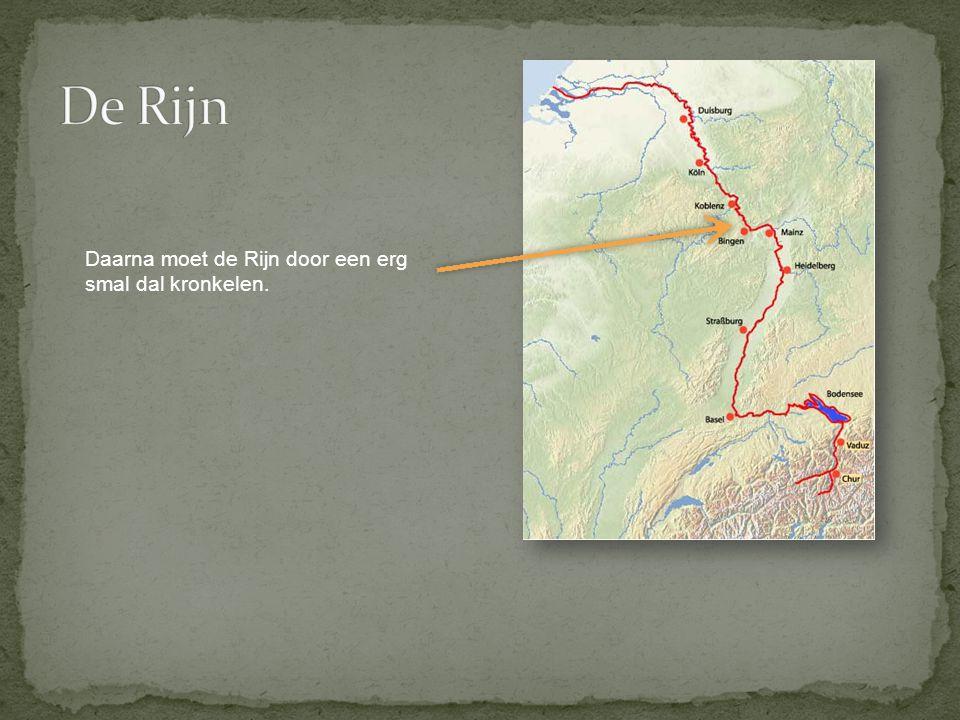 Daarna moet de Rijn door een erg smal dal kronkelen.