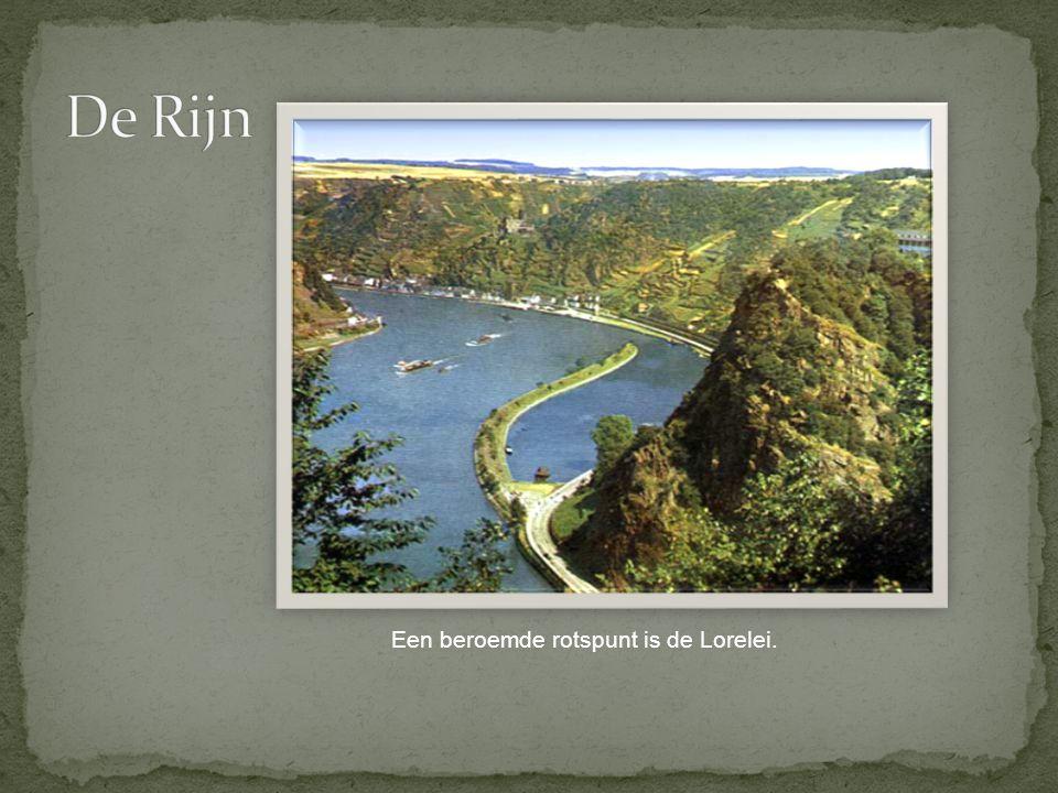 Een beroemde rotspunt is de Lorelei.