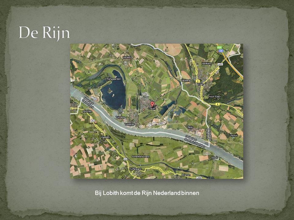 Bij Lobith komt de Rijn Nederland binnen