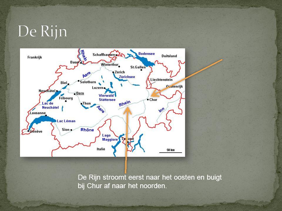 De rivier is dan eerst de grens met Liechtenstein en daarna met Oostenrijk.
