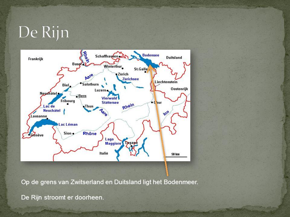 Op de grens van Zwitserland en Duitsland ligt het Bodenmeer. De Rijn stroomt er doorheen.