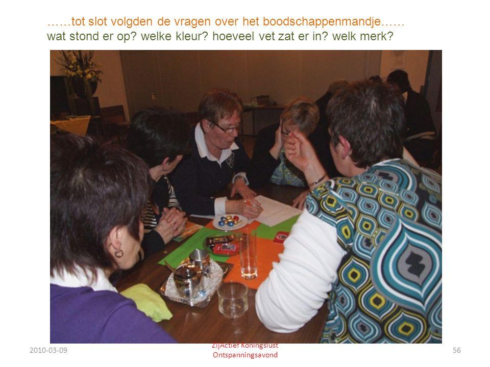 2010-03-0956 ZijActief Koningslust Ontspanningsavond ……tot slot volgden de vragen over het boodschappenmandje…… wat stond er op.