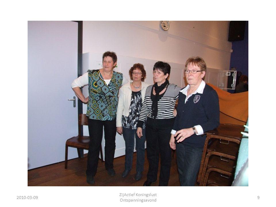 2010-03-09 ZijActief Koningslust Ontspanningsavond 40 ons jaarprogramma uitgebeeld