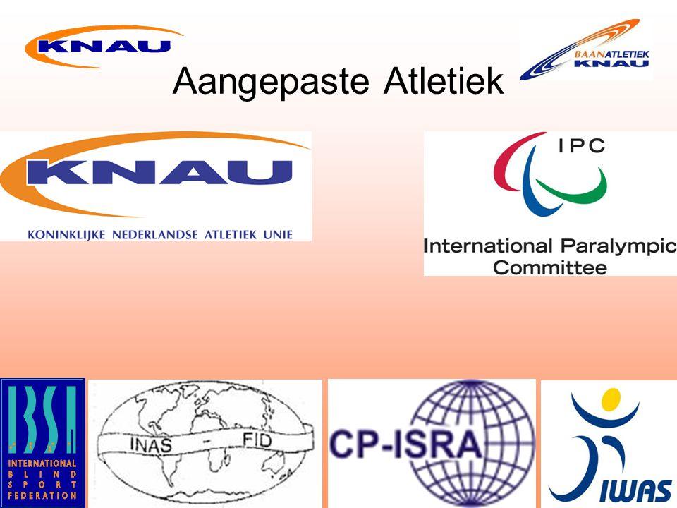 Bij de staande atleten gelden de IAAF regels