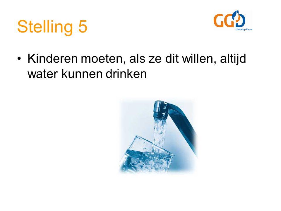 Stelling 5 Kinderen moeten, als ze dit willen, altijd water kunnen drinken