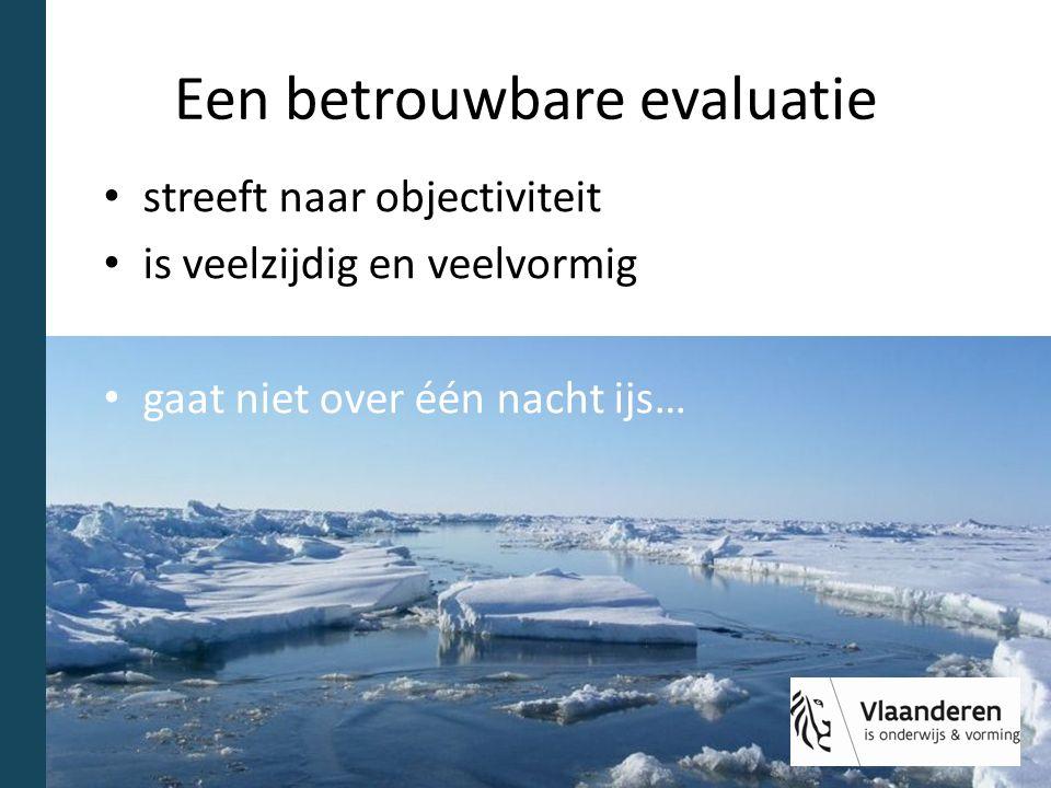 Een betrouwbare evaluatie streeft naar objectiviteit is veelzijdig en veelvormig gaat niet over één nacht ijs…