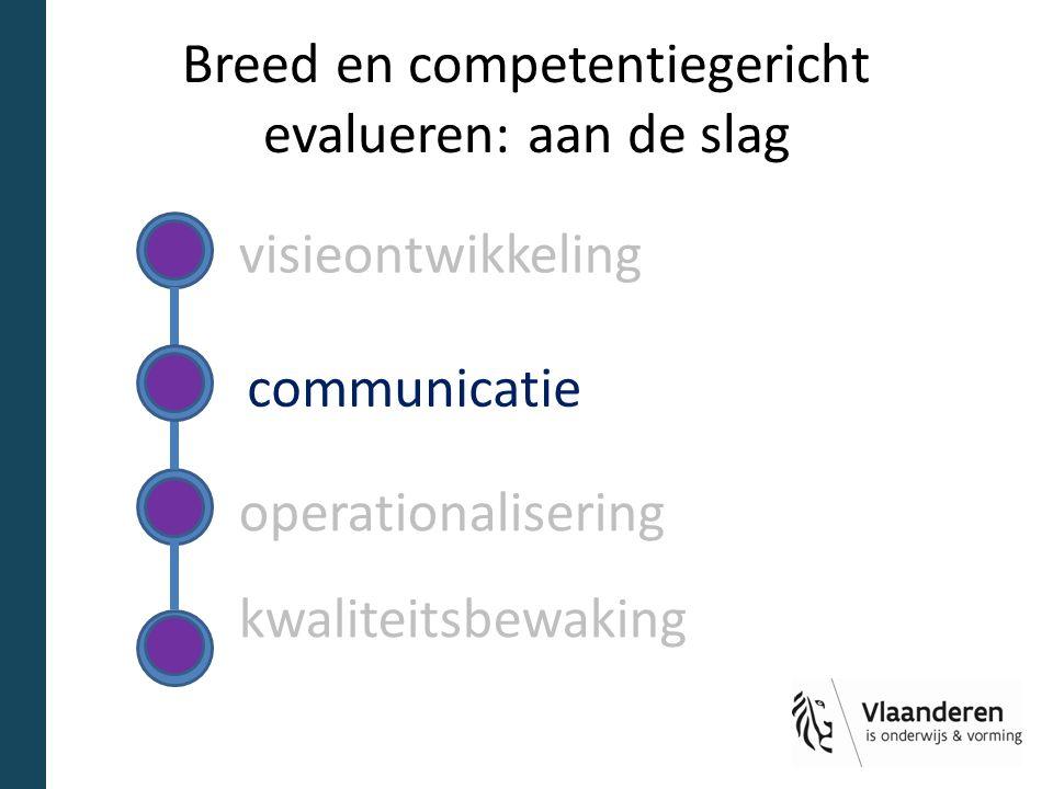 Breed en competentiegericht evalueren: aan de slag visieontwikkeling operationalisering kwaliteitsbewaking communicatie