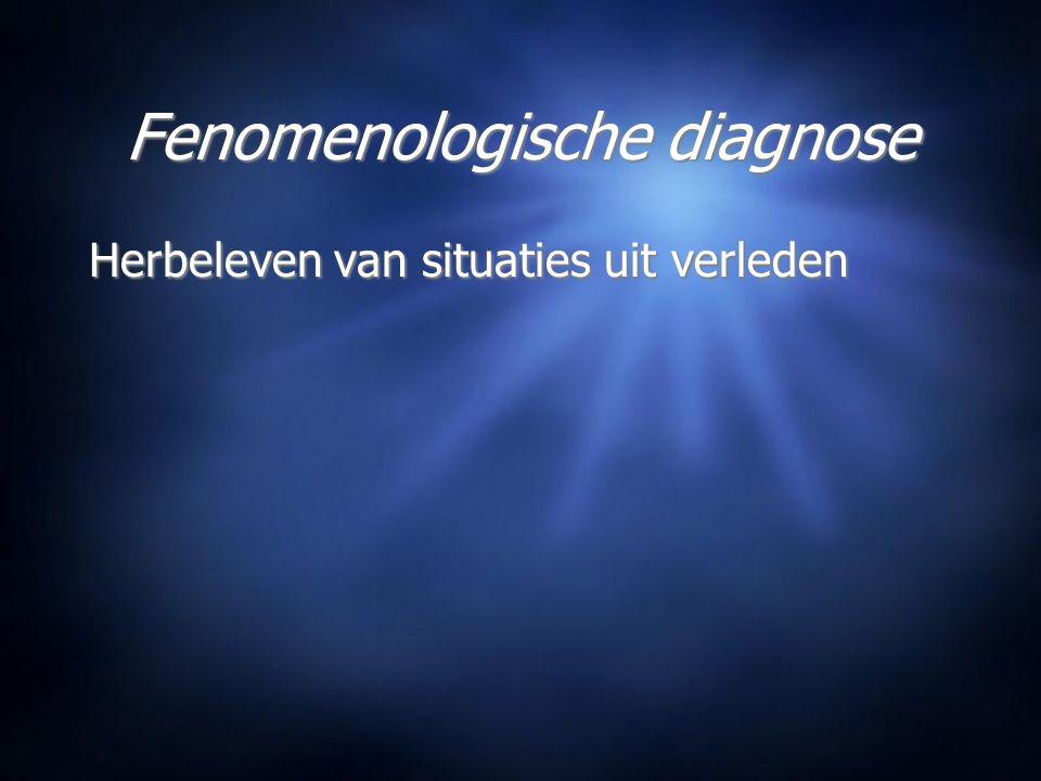 Fenomenologische diagnose Herbeleven van situaties uit verleden