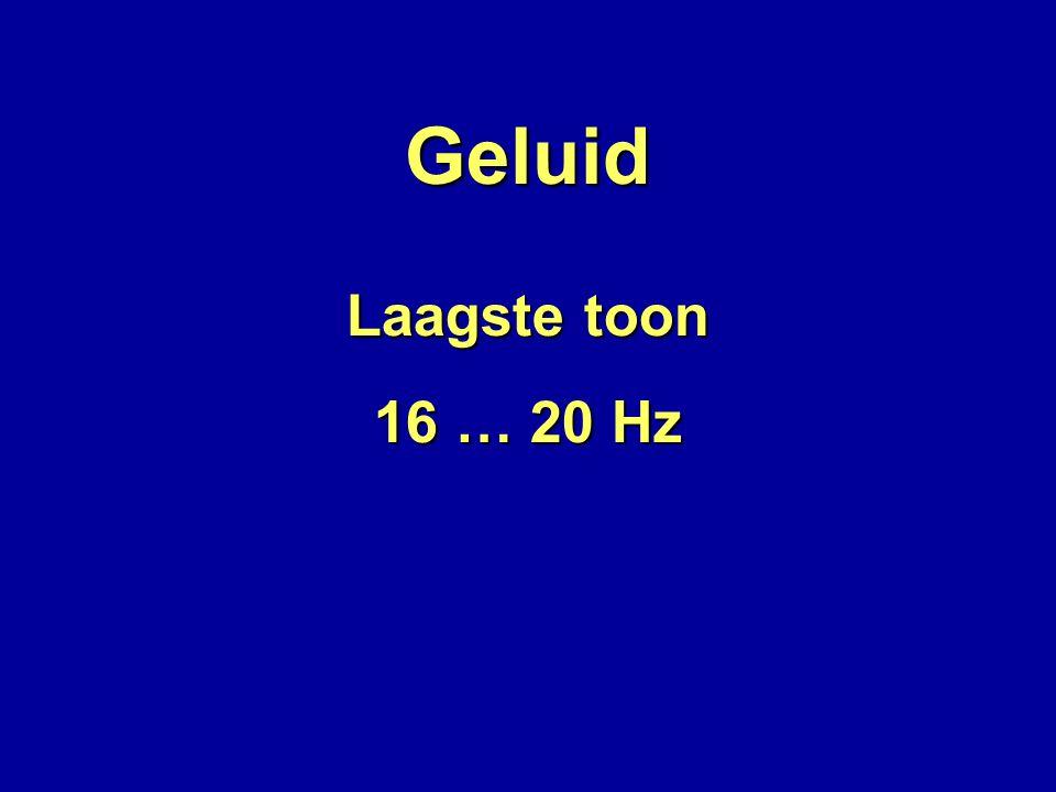 Geluid 16 … 20 Hz