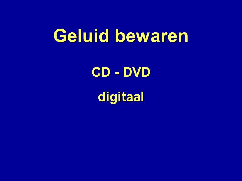 Geluid bewaren CD - DVD digitaal