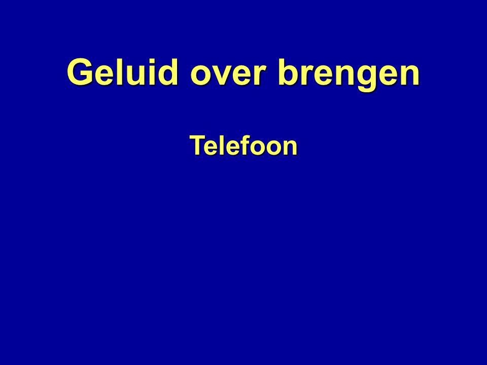 Telefoon Elektrische golven in de draad