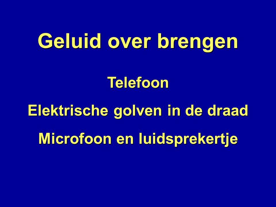Geluid over brengen Telefoon Elektrische golven in de draad Microfoon en luidsprekertje