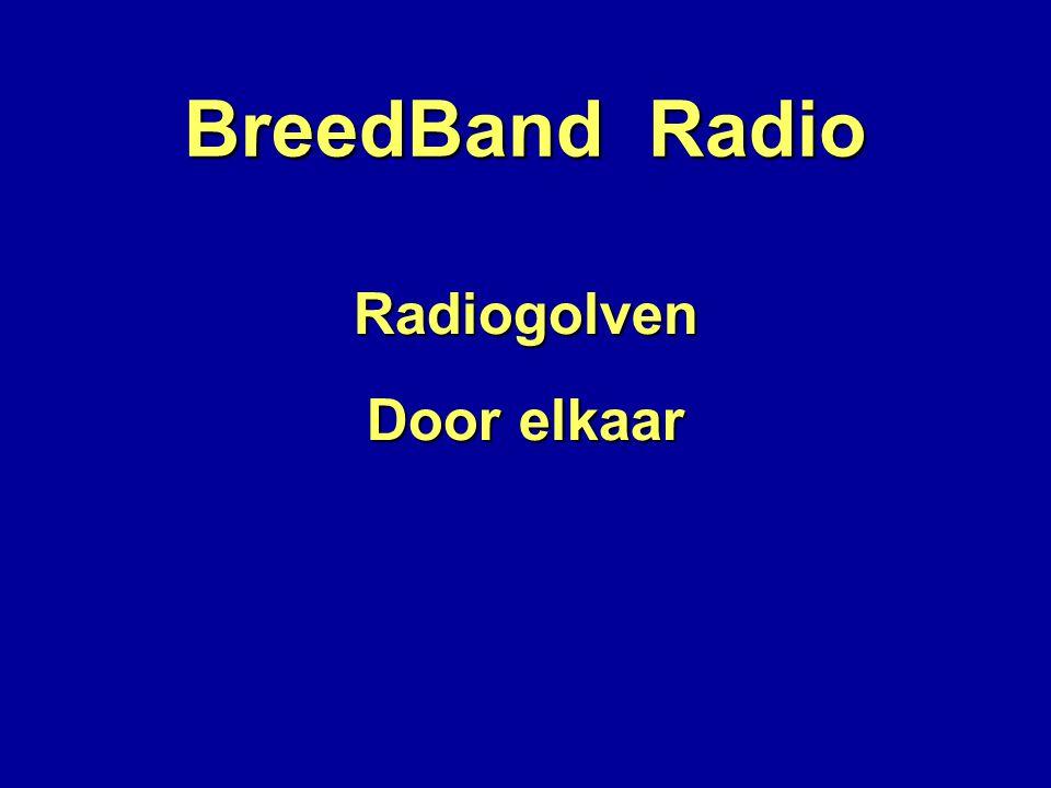 BreedBand Radio Radiogolven Door elkaar Radiozenders