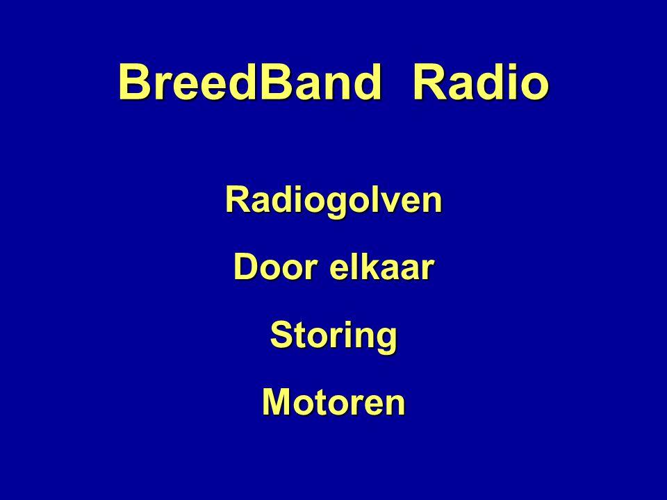 BreedBand Radio Radiogolven Door elkaar StoringMotoren