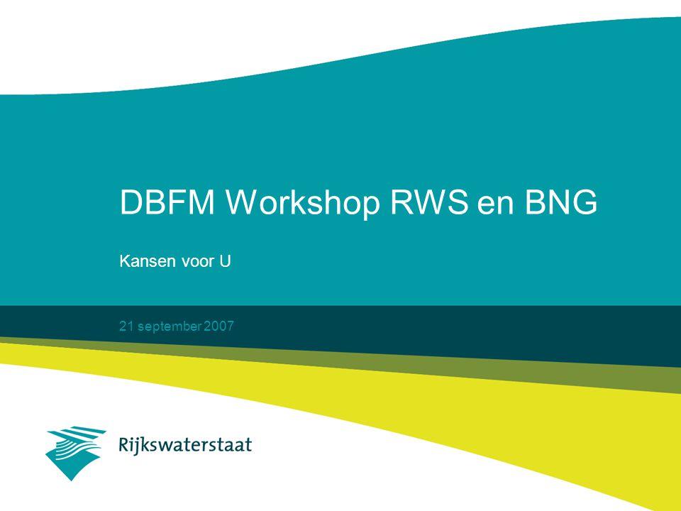 21 september 2007 DBFM Workshop RWS en BNG Kansen voor U