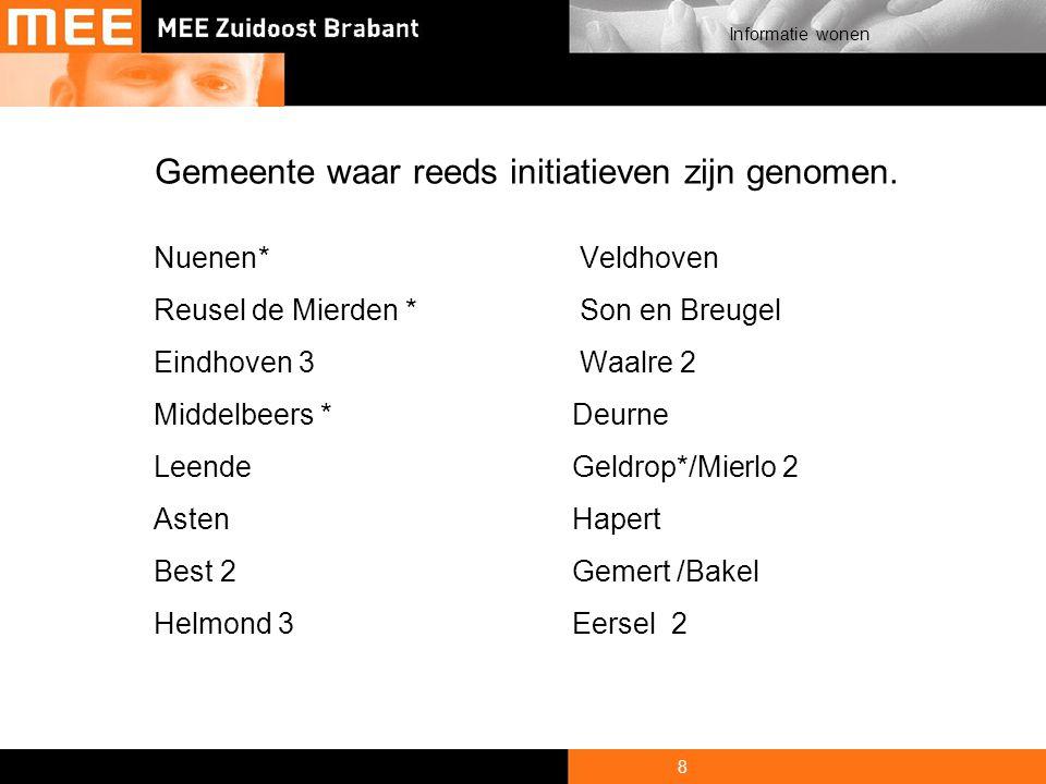 9 Informatie wonen Werkgebied MEE Zuidoost Brabant