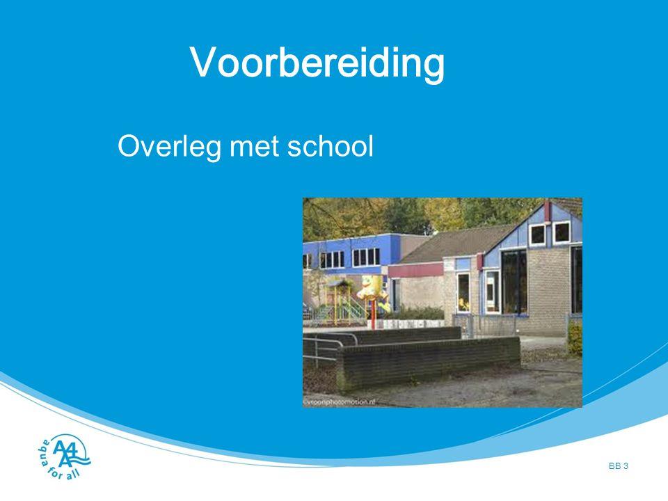Voorbereiding BB 3 Overleg met school