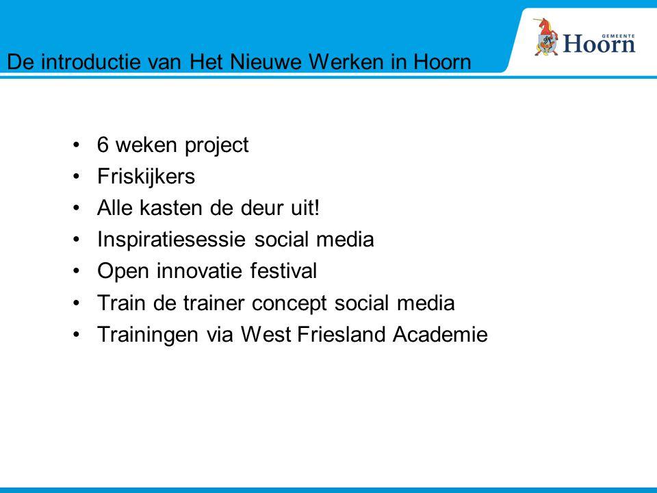 6 weken project Friskijkers Alle kasten de deur uit! Inspiratiesessie social media Open innovatie festival Train de trainer concept social media Train
