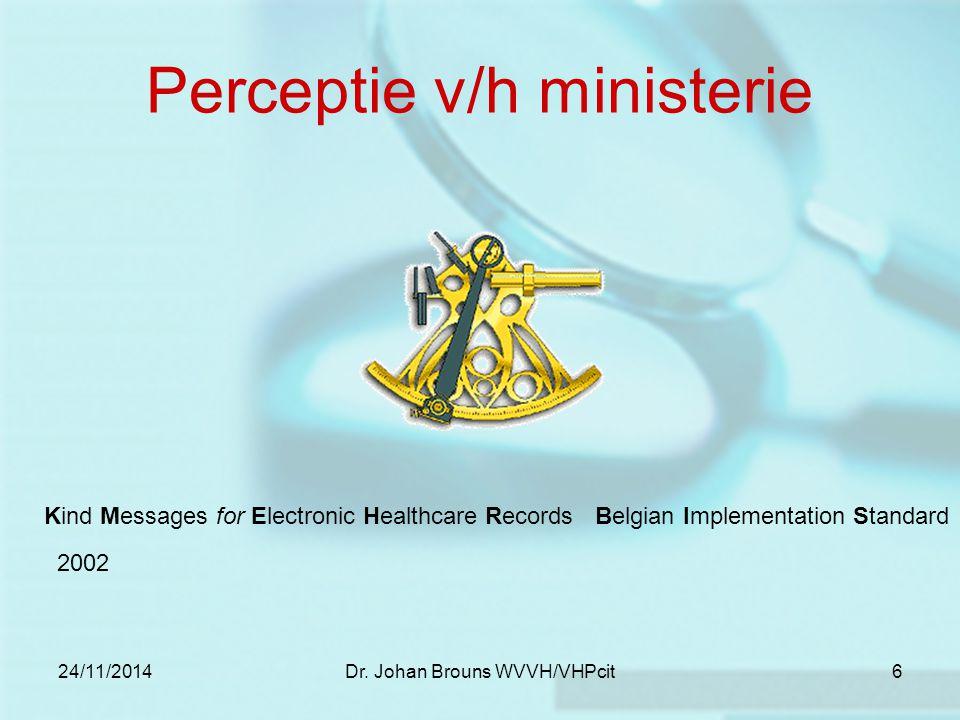 24/11/2014Dr. Johan Brouns WVVH/VHPcit7 Communicatie… Building Bridges 2003