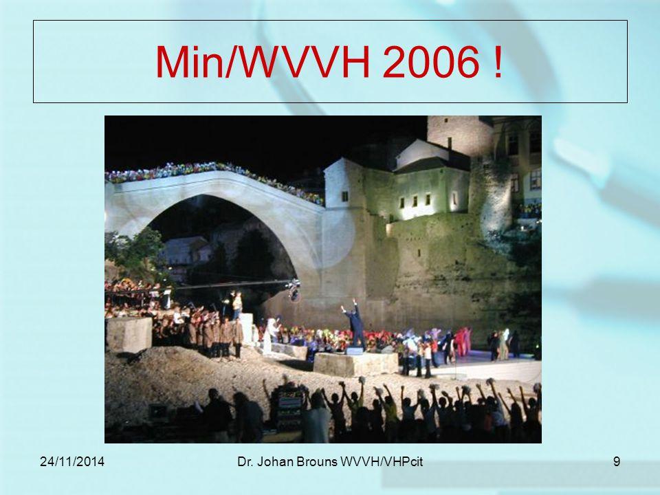 24/11/2014Dr.Johan Brouns WVVH/VHPcit20 Realisatie .