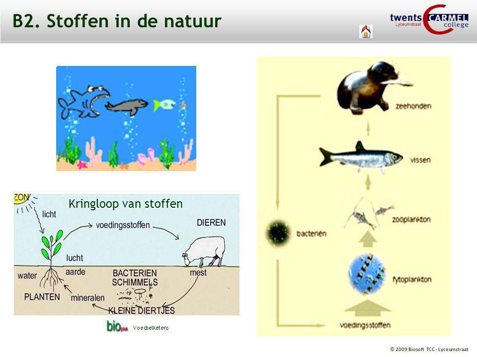 © 2009 Biosoft TCC - Lyceumstraat B2. Stoffen in de natuur Kringloop van stoffen Voedselketens
