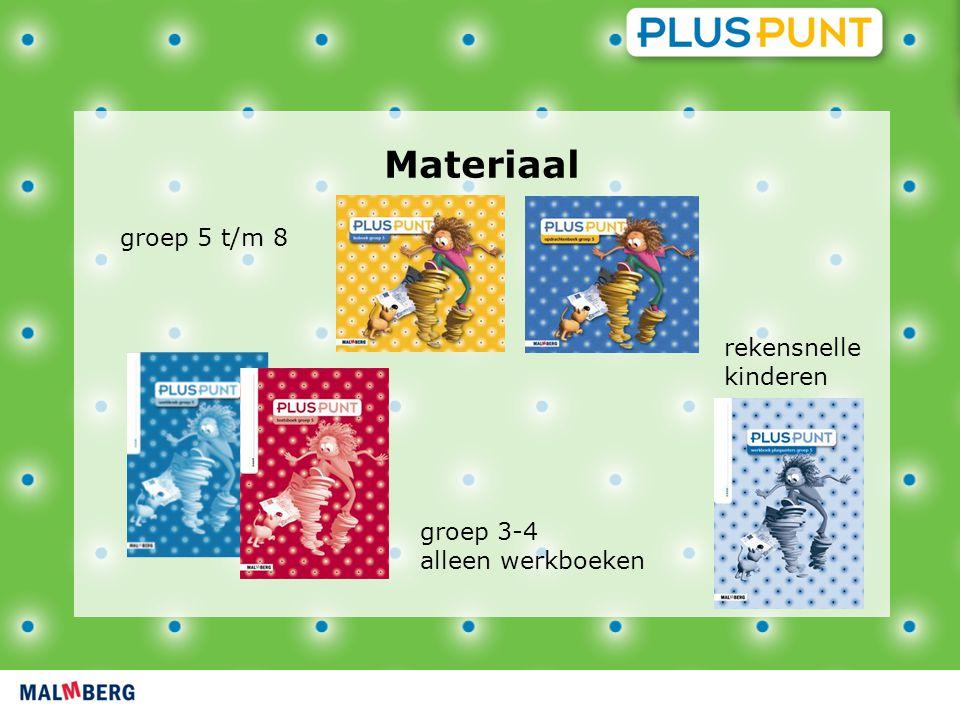 groep 5 t/m 8 Materiaal groep 3-4 alleen werkboeken rekensnelle kinderen