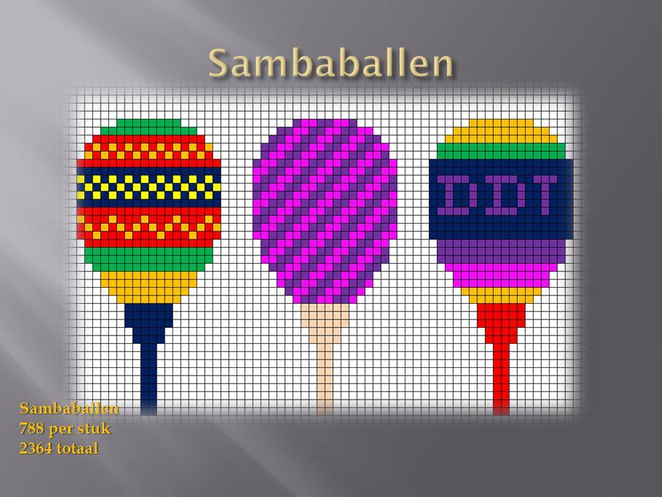 Sambaballen 788 per stuk 2364 totaal
