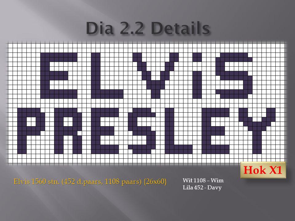 Elvis 1560 stn. (452 d.paars, 1108 paars) {26x60} Wit 1108 – Wim Lila 452 - Davy Hok X1