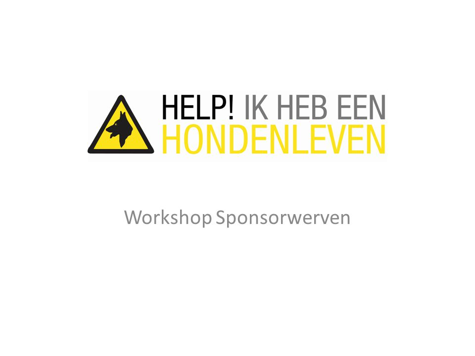 Workshop Sponsorwerven