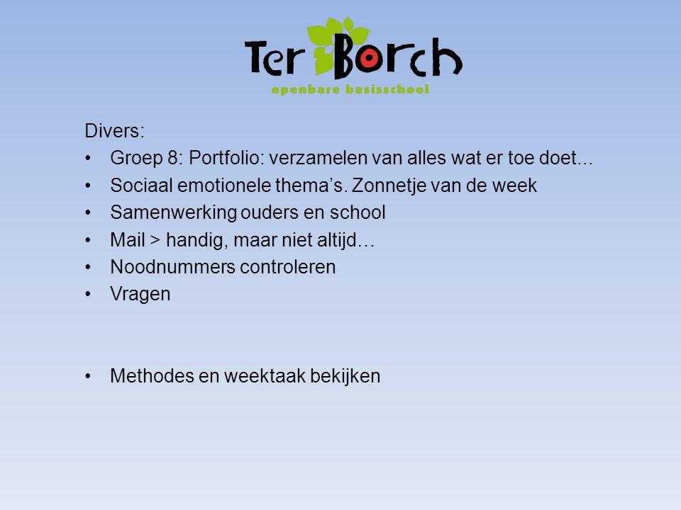 Divers: Groep 8: Portfolio: verzamelen van alles wat er toe doet...