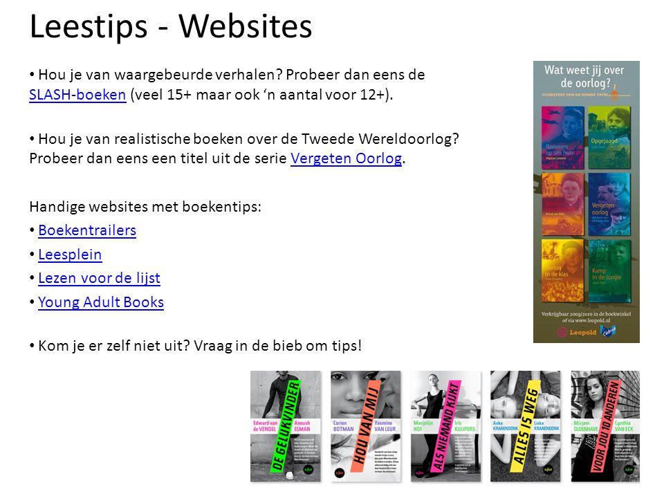 Leestips - Websites Hou je van waargebeurde verhalen? Probeer dan eens de SLASH-boeken (veel 15+ maar ook 'n aantal voor 12+). SLASH-boeken Hou je van