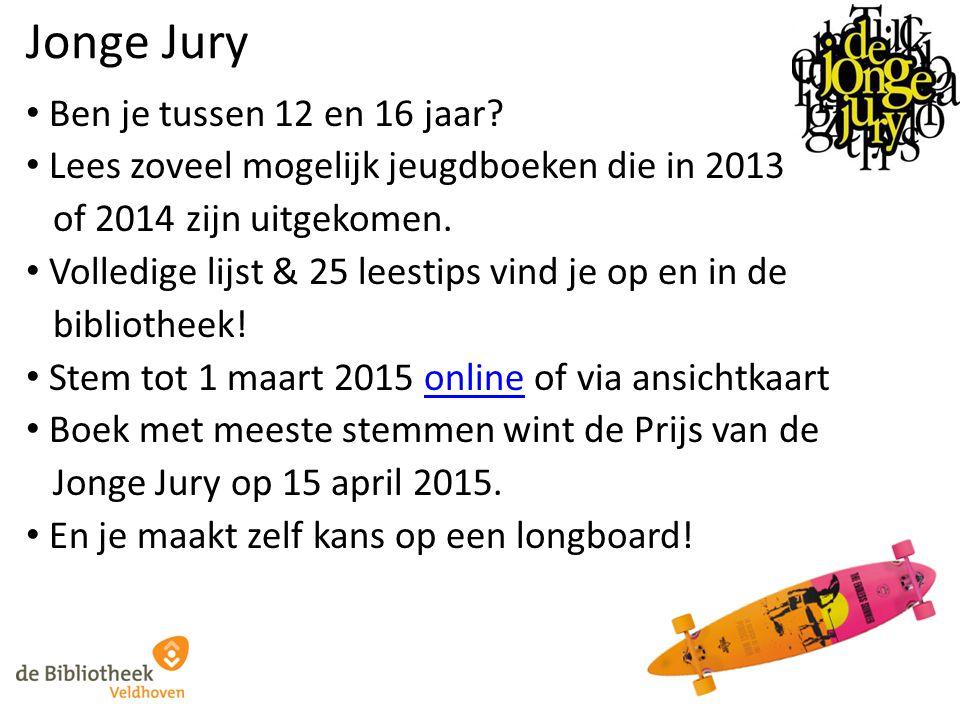 Jonge Jury Ben je tussen 12 en 16 jaar? Lees zoveel mogelijk jeugdboeken die in 2013 of 2014 zijn uitgekomen. Volledige lijst & 25 leestips vind je op