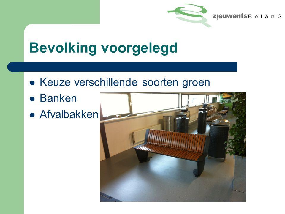 Bevolking voorgelegd Keuze verschillende soorten groen Banken Afvalbakken
