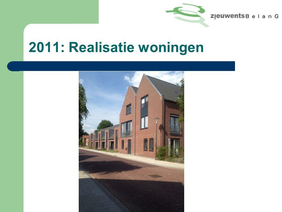 2011: Realisatie woningen